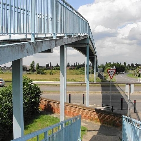 Footbridge over A30 at Ashford - Maxwell Hamilton