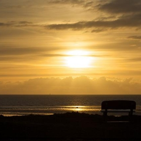 Sunset with bench - futureshape
