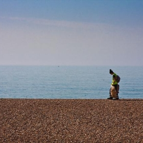 Walking On Brighton Beach - garryknight