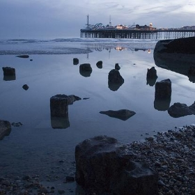 Remains of the Royal Suspension Chain Pier, Brighton - Dominic's pics