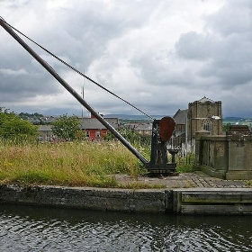 Crane by the Leeds and Liverpool Canal, Burnley - Tim Green aka atoach
