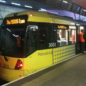 New-style tram spotted at Bury station... - Nicholas Smale
