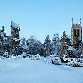 Abbey gardens snow in Bury St Edmunds - portableantiquities