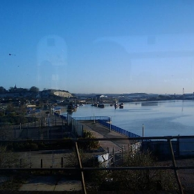 Train ride into work over medway river. - davidflanders