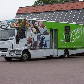 Mobile Library Van at Essex Libraries HQ, Chelmsford, Essex - Loz Flowers