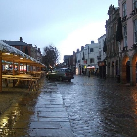 Extraordinarily wet Chesterfield Town Centre - Ben Sutherland