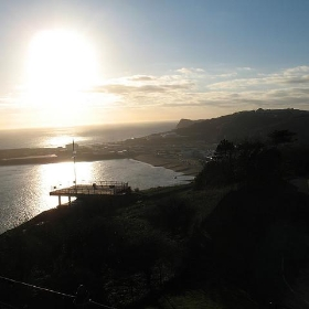 Dover Port as the sun sets...  around 3PM.. - Jake Keup