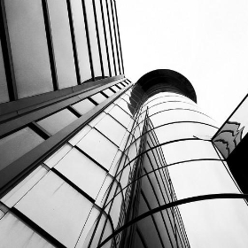 Glass and Steel bw - ahisgett