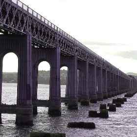 Tay Rail Bridge Looking To Dundee - Ross2085