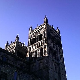 Blue skies over Durham Cathedral - dunkv