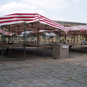 Piece hall - empty market stalls - burge5000