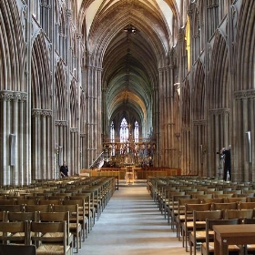 Inside Lichfield Cathedral - Fearless Fred