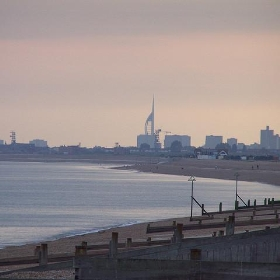 Portsmouth, taken from Hayling Island. - Mike__Lawrence