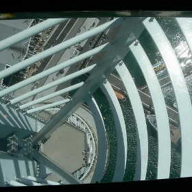 Millenium spinnaker tower portsmouth hampshire hants UK looking down through see through glass floor - Tim Pearce, Los Gatos