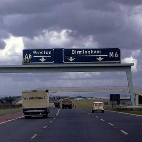 M6 near Preston, England 1966 - PhillipC