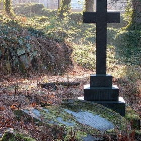 Cross and fallen headstone - Paul Stevenson