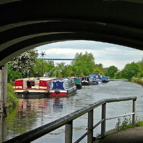 View under bridge, Selby Canal - Tim Green aka atoach