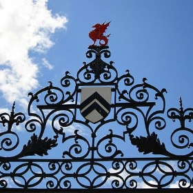Wrought iron gate at packwood - jo-h