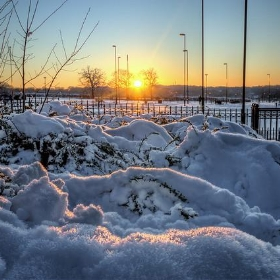 Snow top sunset - Caza_No_7