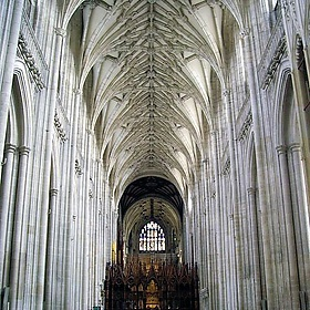 Further up the Great Nave, Winchester Cathedral - Margaret Anne Clarke