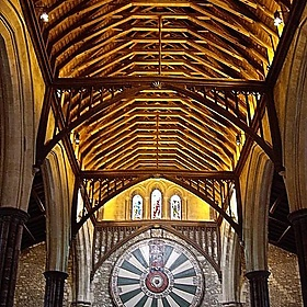 Further up the Great Hall, Winchester Castle - Margaret Anne Clarke