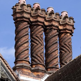Wightwick Manor Chimneys 4 - ahisgett