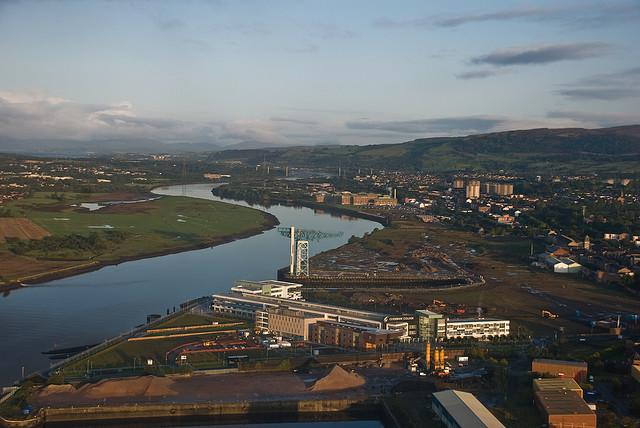 River Clyde at Clydebank, Scotland, October 2008