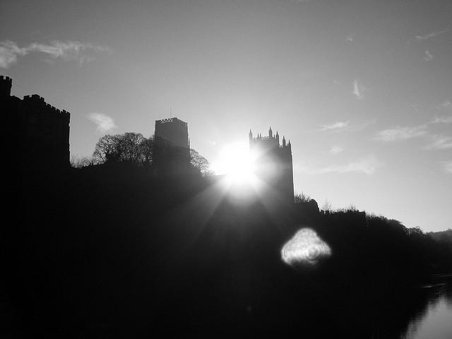 Durham Cathedral and the sun – 1