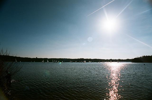 Sailing on Frensham Pond
