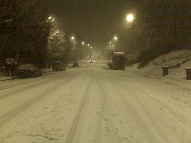 A404 Marlow Hill in Snow