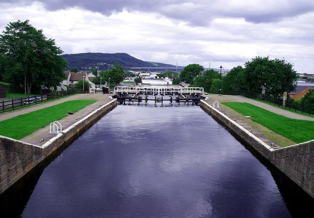 Caledonian Canal at Muirtown Locks Inverness Scotland