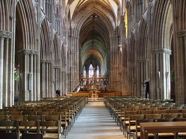 Inside Lichfield Cathedral