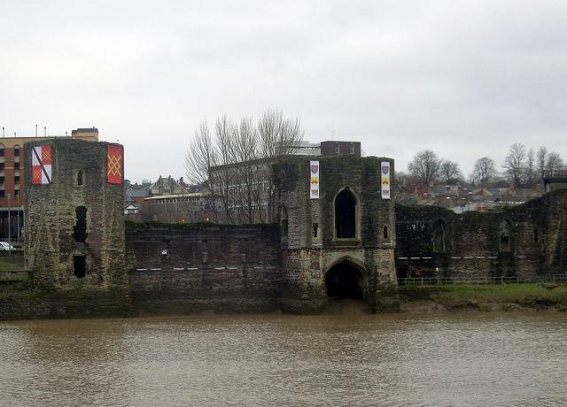 Remains of Newport Castle, South Wales