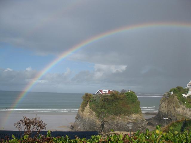 Rainbow in Newquay