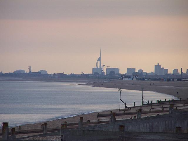 Portsmouth, taken from Hayling Island.