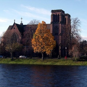 Autumn along the river Ness in Inverness Scotland - conner395