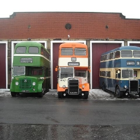 Three buses from a bygone era - Firing up the quattro....