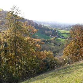 View back along the Slad Valley towards Stroud - Smoobs