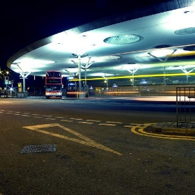 Walsall at Night - Station Trails - Lee Jordan
